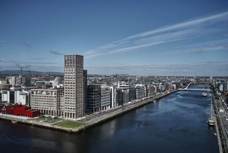 Capital Dock in Dublin: average rent is (€2,075) per unit
