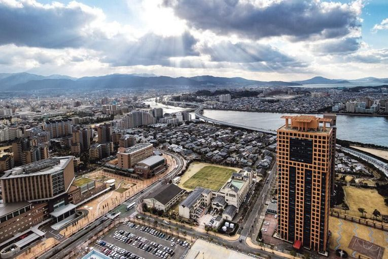 A view of Fukuoka and the Muromi river All pictures: Getty