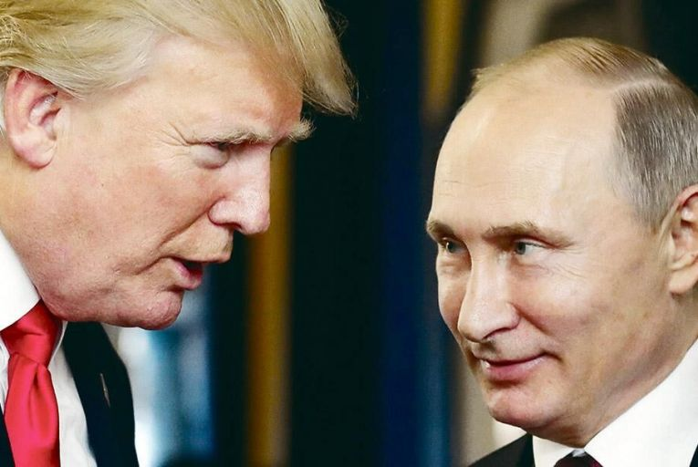 Deterring democracy?  US president Donald Trump  with Russia's Vladimir Putin Picture: Getty