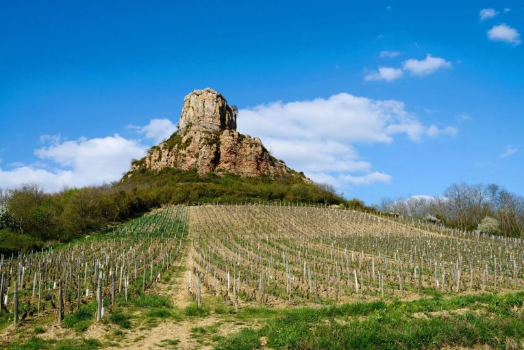 Wines such as Pouilly-Fuissé are grown around La Roche de Solutré, just outside Mâcon in east-central France Picture: GETTY