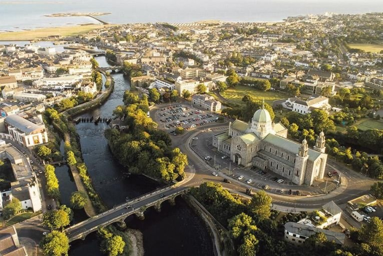 Galway city from the air