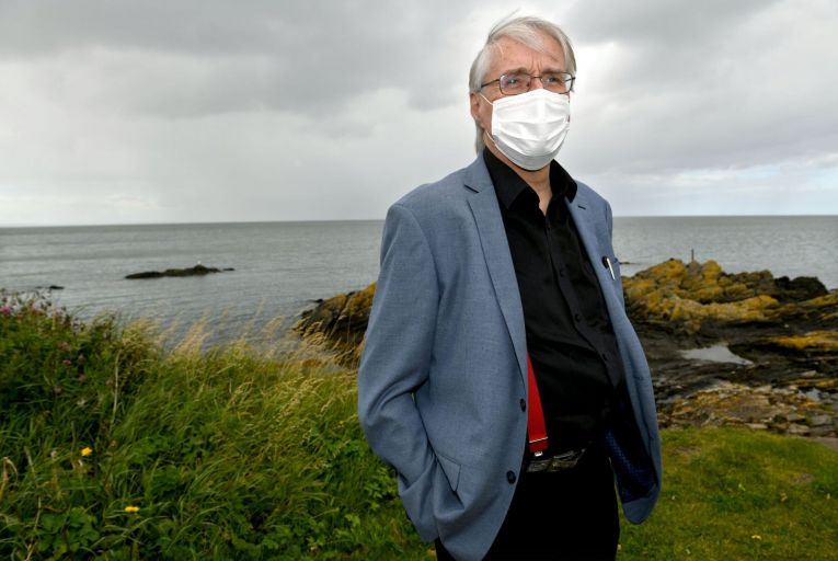 Professor Anthony Staines: 'I won't be safe, never mind feeling safe'. Picture: Bryan Meade