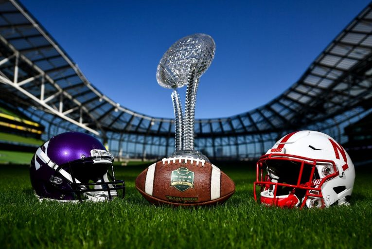 Northwestern University Wildcats, from Chicago, Illinois, and the University of Nebraska Cornhuskers will play at the Aviva stadium in Dublin next year. Picture: David Fitzgerald/Sportsfile