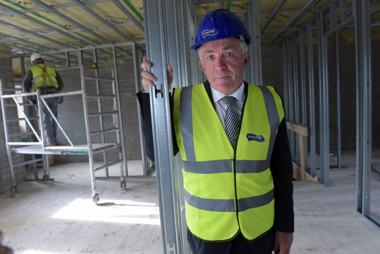 Michael O'Flynn: says people want homes with gardens, not a 'tiny balcony space'. Picture: Bryan Meade