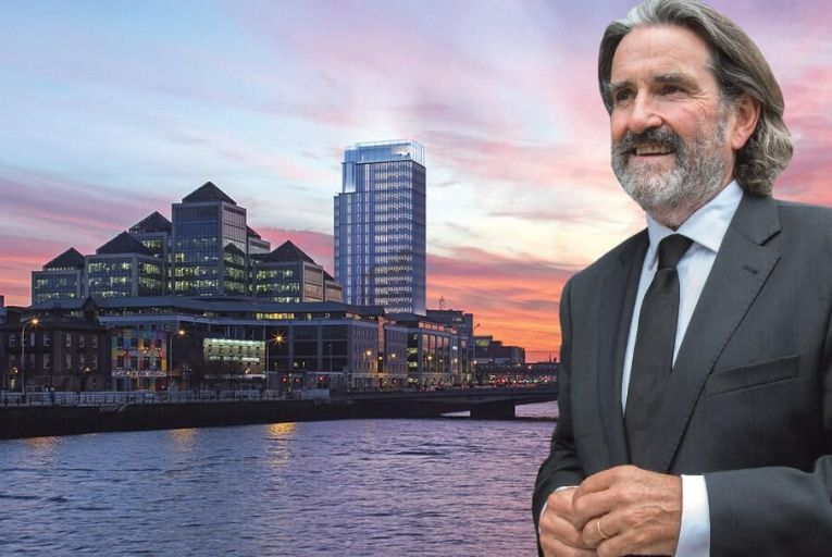 Johnny Ronan is appealing to An Bord Pleanála to allow him build a 22-storey tower on Dublin's Tara Street  Pic: Tony Gavin