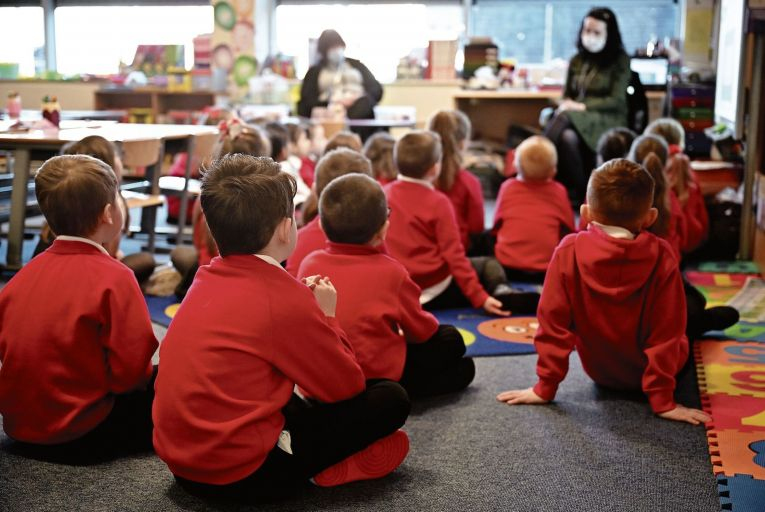 Data suggests children are more at risk of catching Covid-19 in a home environment than at school, where there are higher levels of precautions. Picture: Getty