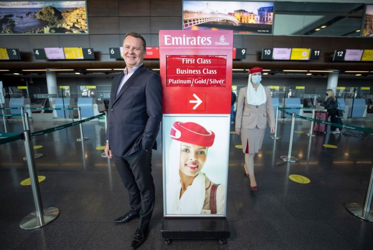 Enda Corneille of Emirates Ireland: bounce in cargo demand Pic: Fergal Phillips