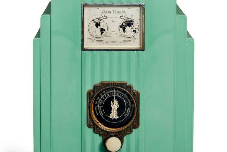 Object of desire: A mint green Air King 66 Skyscraper radio