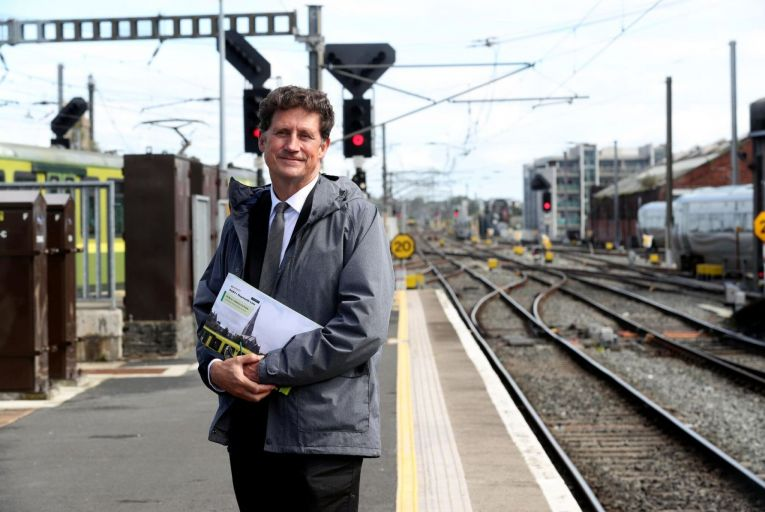 Eamon Ryan, Minister for Transport, believes that reopening rail lines 'will transform our regional cities'