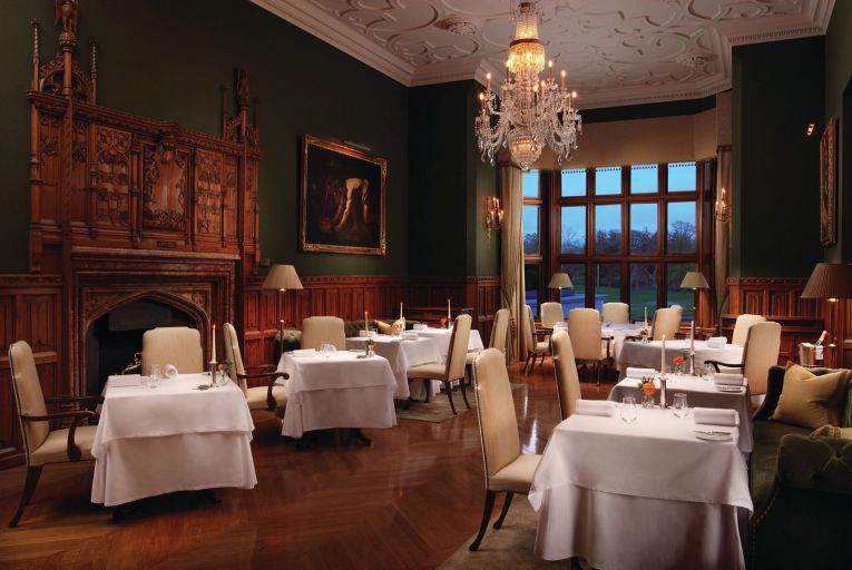 The Oak Room, the principal fine dining room at Adare Manor