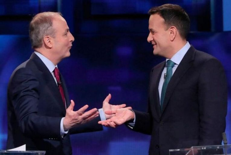 Micheál Martin and Leo Varadkar; with appeals for aid growing rapidly, there will be tough decisions to be made for the next government. Picture: Niall Carson/PA Wire