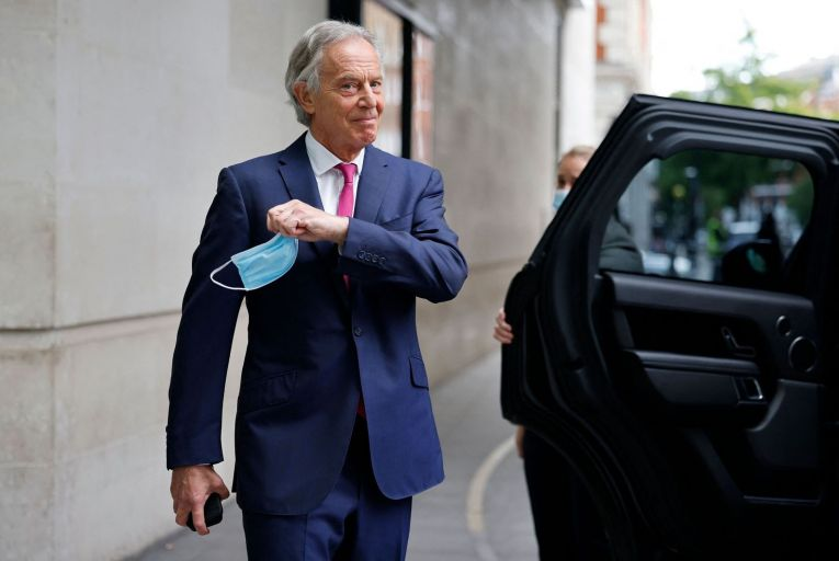 Tony Blair is pushing for wealthier countries to create capacity on every continent for vaccine production so that developing countries can vaccinate their own citizens. Picture: Getty