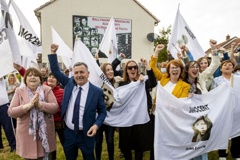 \'For half a century, the Ballymurphy families have had to persevere in their campaign for justice against a mindset – on both sides of the border, and across the Irish Sea – that told them the past was not important any more.' Picture: PA
