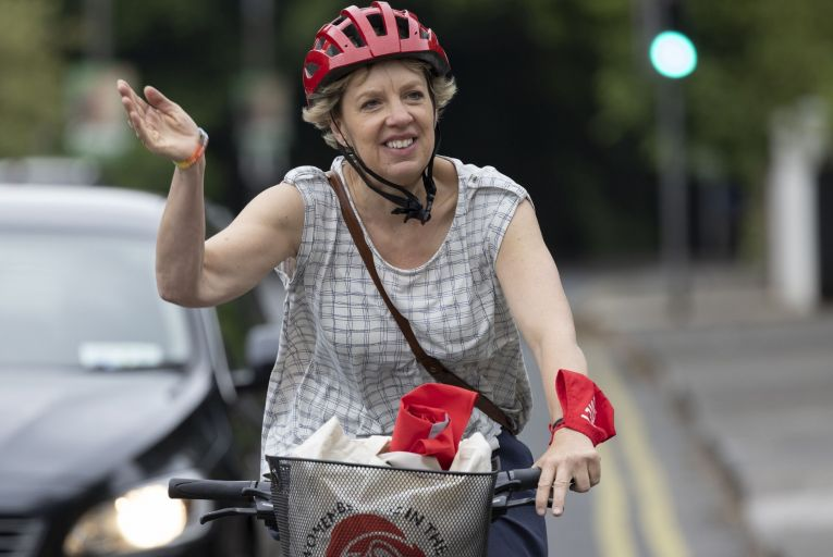 Labour Party Senator Ivana Bacik campaigning ahead of the by-election in Dublin Bay South where \'soft' Fine Gael voters will not find it hard to vote for someone with her liberal credentials. Picture: Arthur Carron