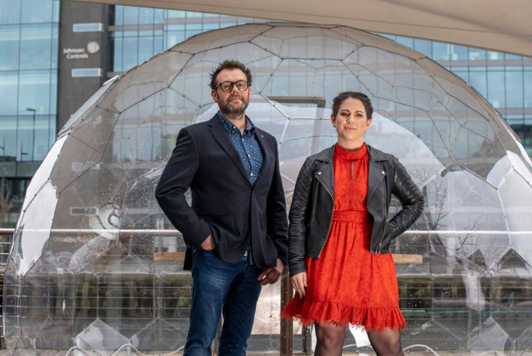 Allan Beechinor and Niamh Parker, co-founders of Altada: the company uses artificial intelligence (AI) to aid financial services businesses in reading loan documents to speed up the time taken to review portfolios and enable better investment decisions. Picture: Clare Keogh