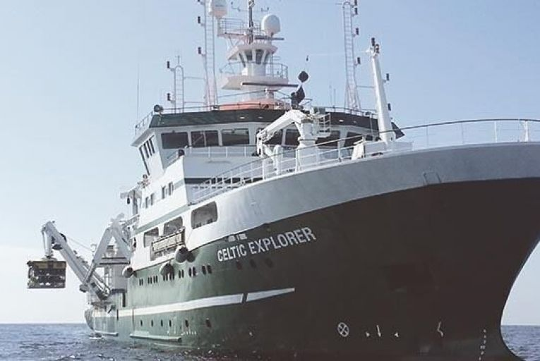 The RV Celtic Explorer, mapped the first transect of the Atlantic Ocean under the Atlantic Ocean Research Alliance