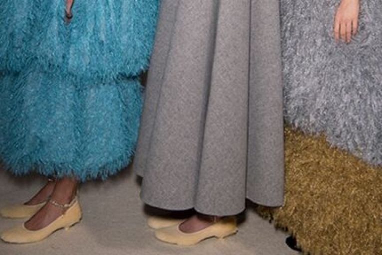 JW Anderson puts slippers on the catwalk: stepping into a sumptuous party slipper, one plucked straight from a Disney fantasy, is bound to lift spirits