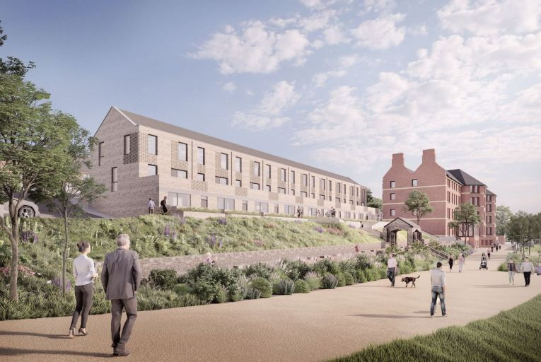 An artist's impression of how the 266-home development west of Cork city centre will look when finished