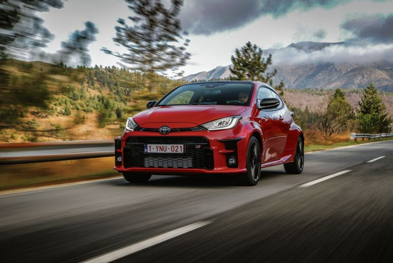 The Toyota GR Yaris starts at about €50,000