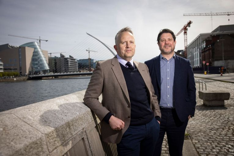 George Harold and Kieran Beggan, co-founders of IFS, believe new opportunities will develop in the construction sector in the near future. Picture: Fergal Phillips