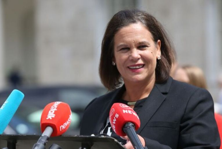 Mary Lou McDonald's party is now level with Fine Gael, which remains unchanged on 29 per cent. Picture: Rollingnews.ie