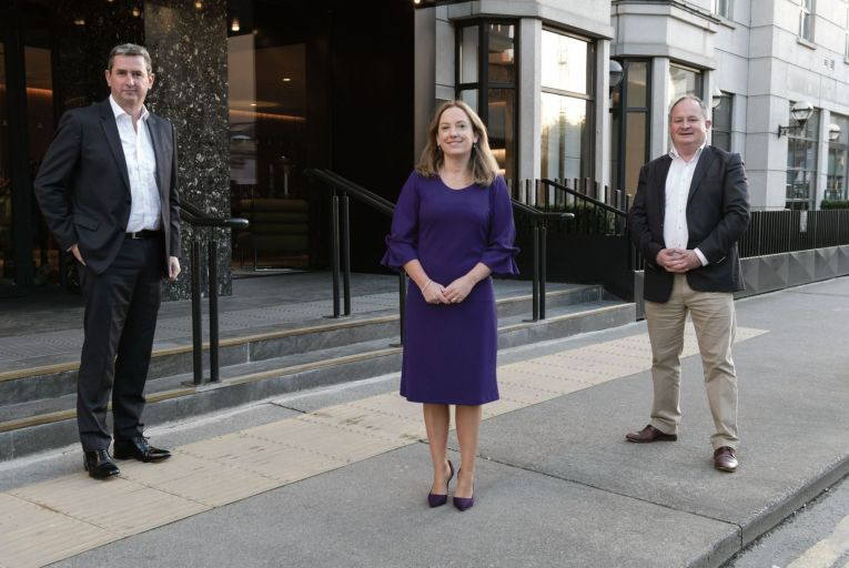 Mark Thorne, partner and head of banking and capital markets, Dillon Eustace, Orla O'Gorman, head of equity listing Ireland, Euronext and Marc Coleman, founder, Octavian Research