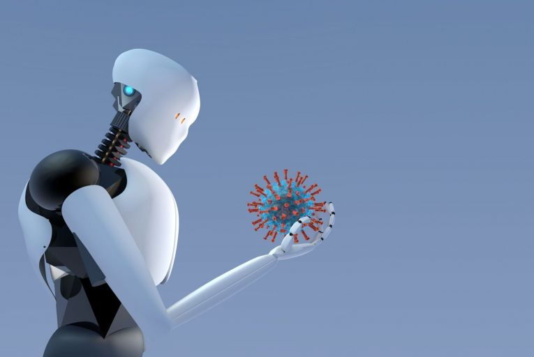AI is capable of performing human-like tasks and could be used in several different areas in the campaign against the virus. Picture: Getty