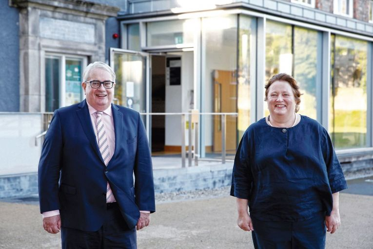 Mr Justice Frank Clarke, the Chief Justice, who is due to retire this week and Eilis Barry, chief executive, Free Legal Advice Centres: Barry was critical of poor access to the Irish legal system for ordinary citizens. Picture: Photocall