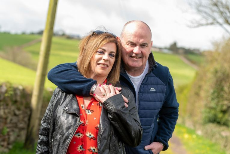 Gareth O'Callaghan and his partner Paula Delaney who has supported him through his diagnosis. Picture: John Allen