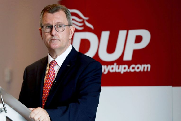 DUP leader Jeffrey Donaldson is in a highly exposed position and he knows it, he has been pummelled for his handling of Brexit and blithely refuses to accept the consequences of his actions. Picture: Presseye