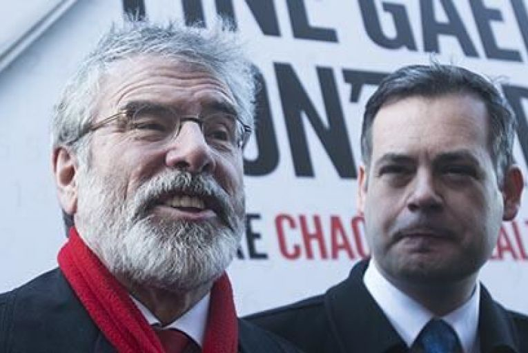 Sinn Fein leader Gerry Adams and party spokesman Pearse Doherty Picture: Rollingnews