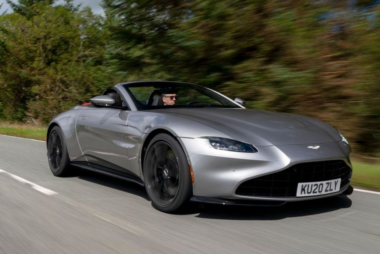 The Aston Martin Vantage offers open-top motoring in under seven seconds