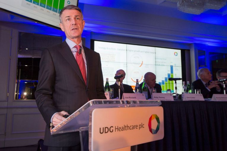 Brendan McAtamney Chief Operating Officer of UDG Healthcare: the board of UDG Healthcare adjourned a planned shareholder egm to consider the improved offer, which it confirmed would be the final one on the table from CD&R