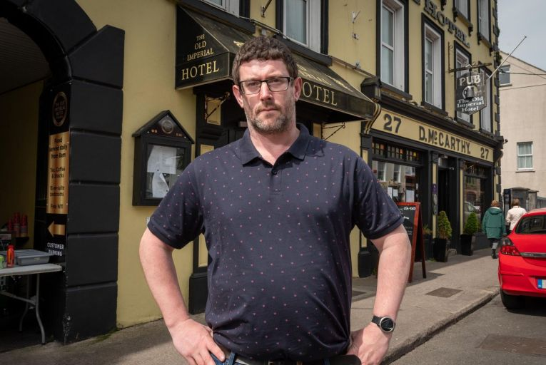 Dan Leahy, owner of the Old Imperial Hotel in Youghal,  Co Cork. Picture: John Allen