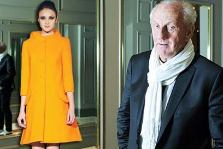 Paul Costelloe  and left part of the new summer collection Picture: Bryan Meade/Getty