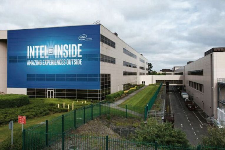 The Intel site at Leixlip in Co Kildare: its new extension is the size of four football pitches