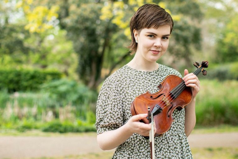 Phoebe White, violinist is the winner of the 2021 RDS Music Bursary which includes a professional performance engagement with the RTÉ National Symphony Orchestra.Picture: Anna Gordon/Coalesce