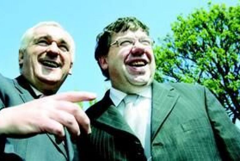 Bertie Ahern and Brian Cowen presided over the destruction of Fianna Fáil as the dominant force in Irish politics. Photo: Maxwells