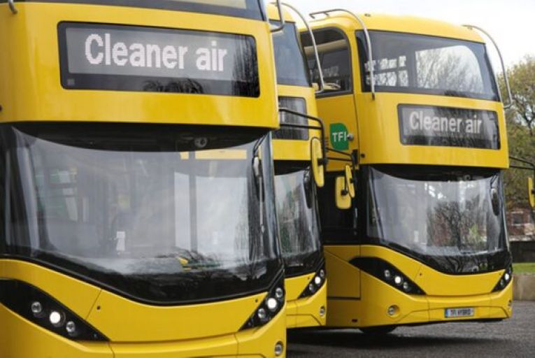Dublin Bus is aiming to establish its first fully electric route by 2024, as part of wider plans to operate a full zero-emission fleet by 2050. Picture: Leah Farrell/RollingNews.ie