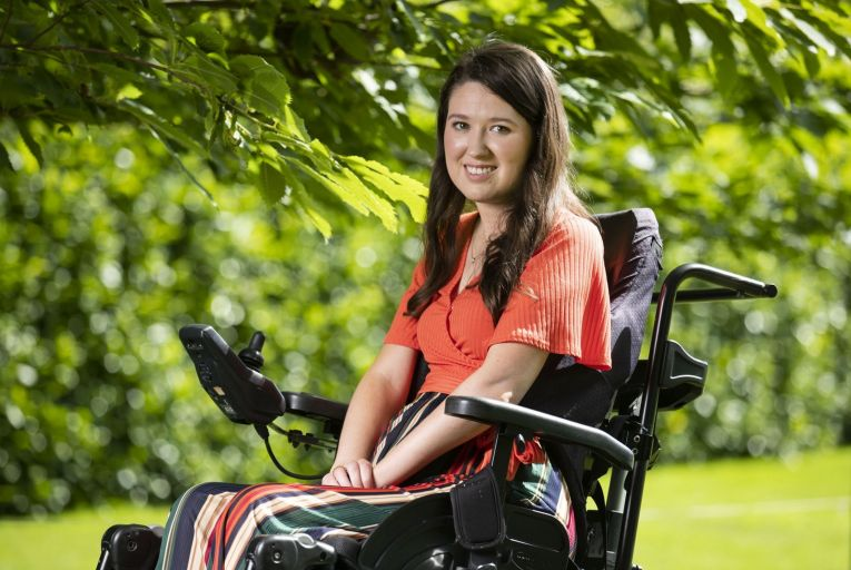Emer O'Sullivan from Portlaoise suffers from Spinal Muscular Atrophy. Picture: Finbarr O'Rourke