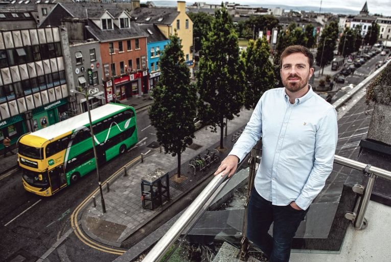 Brian O'Rourke, chief executive of CitySwift: We have a lot of information about how a city moves, both from a traffic perspective and a people movement perspective. Picture: Michael Dillon