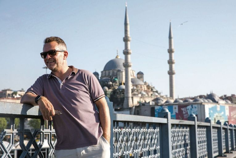 Fionn Davenport in Istanbul before lockdown: the urge to explore is too powerful and travel will come roaring back