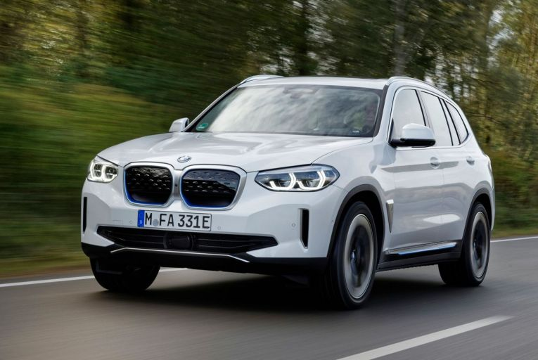 The new BMW iX3, an all-electric version of the familiar X3 SUV