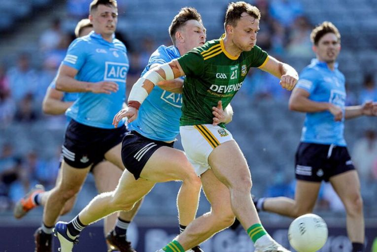Dublin played Meath in the Leinster football semi-final in Croke Park last month: the demands on successful GAA players are now almost indistinguishable from those on their professional counterparts in other sporting codes who are well paid for their efforts.  Picture: Inpho