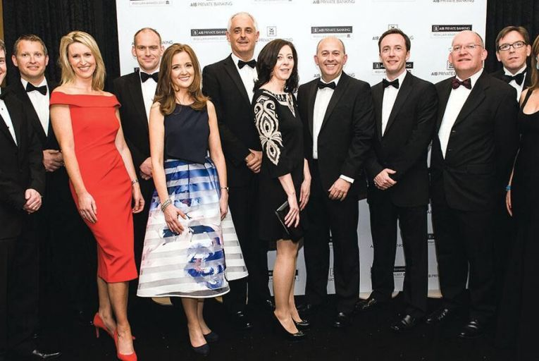 The team from Ronan Daly Jermyn who were awarded Law Firm of the Year at the sixth annual AIB Private Banking Irish Law Awards