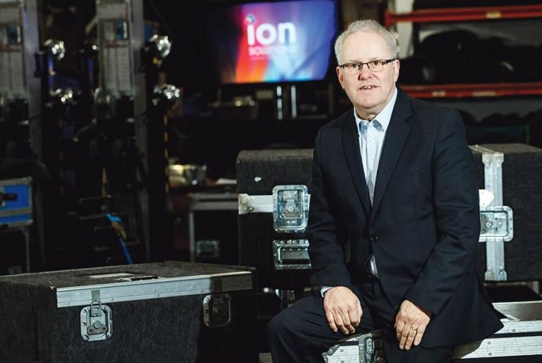 Kevin Moore, director of Ion Solutions: the company delivered RTE's new €1.4 million news studio ahead of schedule Pic: Andres Poveda