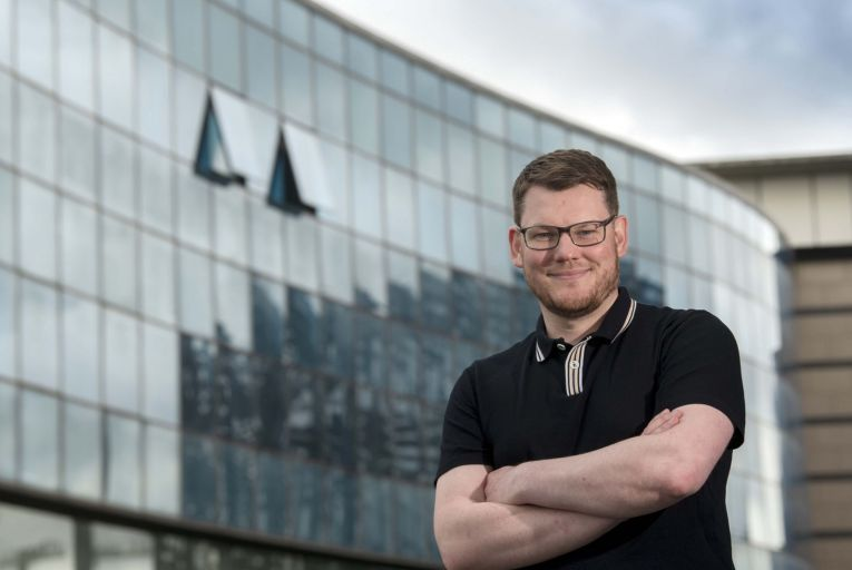 Brian D\'Arcy, founder of Luna Connect, has his eye on the British and US markets for the future. Picture: Andrew Downes, Xposure.