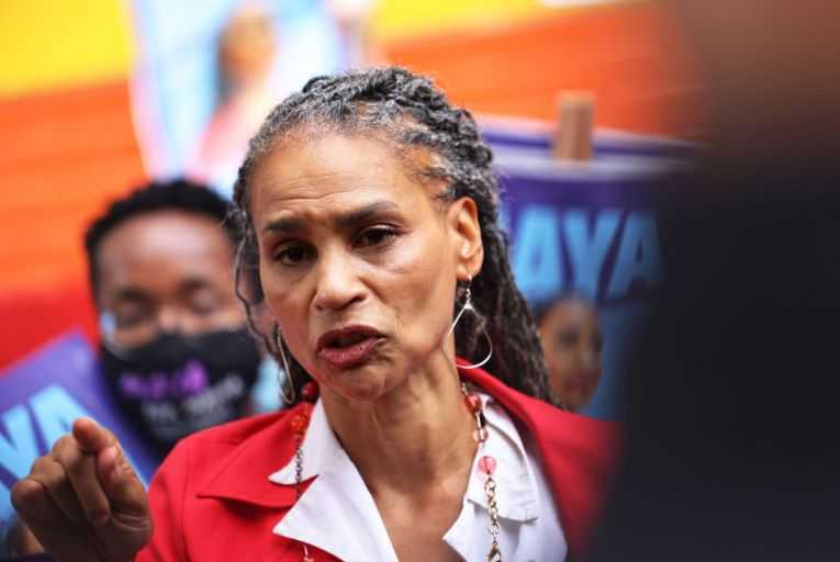Maya Wiley, a former federal prosecutor turned civil rights activist, is regarded as the most progressive of the candidates for New York mayor. PIcture: Getty