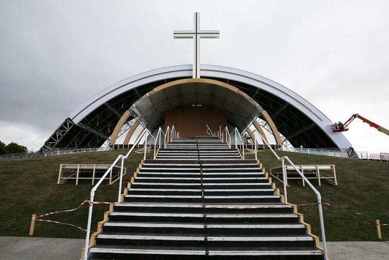 The site where Pope Francis is to give the closing Mass in the Phoenix Park. Photo: RollingNews.ie