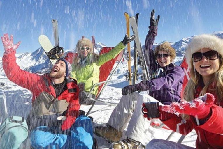 Group Ski Shot Picture: Getty